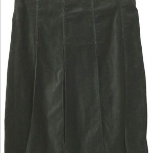 Burberry Black velvet pleated skirt 8